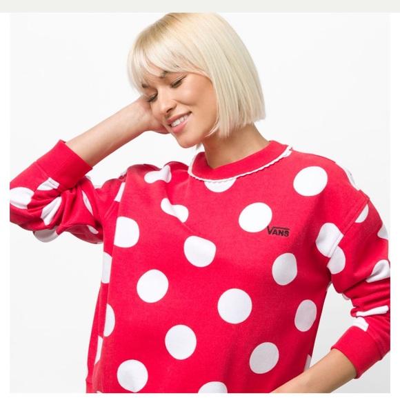 6523aea221 Disney X Vans Minnie Mouse Boxy Crew Sweatshirt